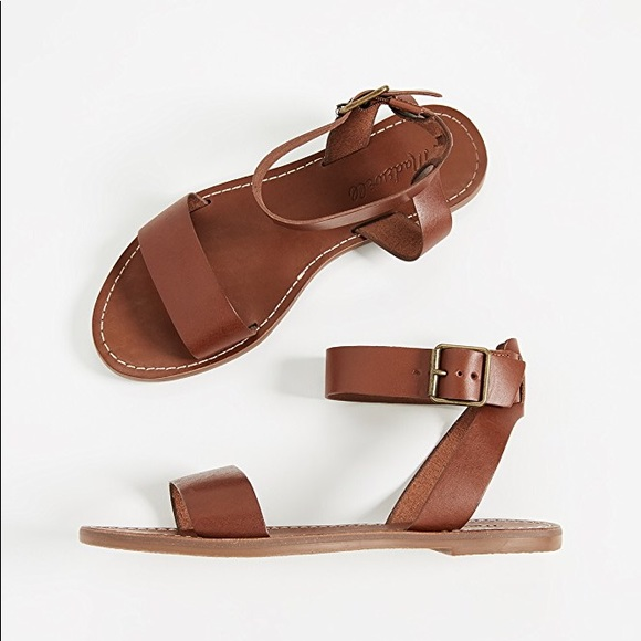 911d36720733 Madewell Boardwalk Sandals in English Saddle NWT